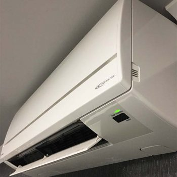 Close up of an air conditioning unit in an office